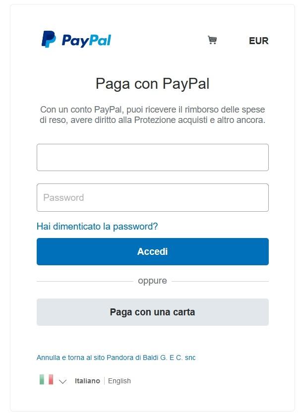 Come pagare con PayPal prima schermata