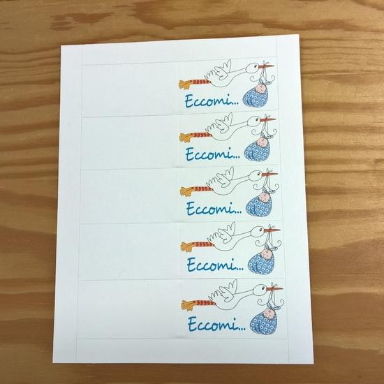 Amato Bigliettini per Bomboniere da stampare con nome e data della cerimonia WT02